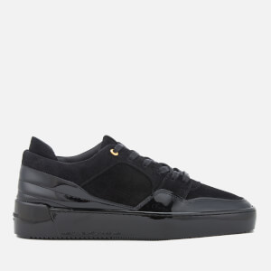 Android Homme Men's Omega Low Suede/Patent Leather Trainers - Black