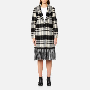 Maison Scotch Women's Bonded Wool Coat - Combo D