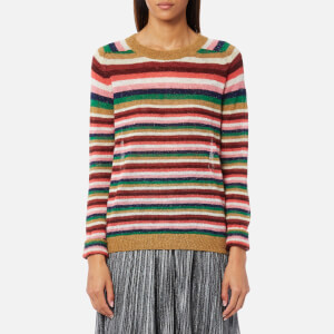 Maison Scotch Women's Soft Striped Pullover Jumper - Combo A