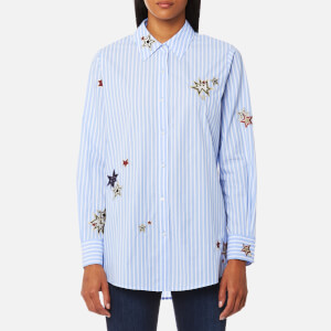 Maison Scotch Women's Long Sleeve Shirt with Placed Star Embroidery - Combo S