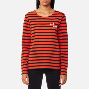 Maison Scotch Women's Striped Long Sleeve Top - Combo C