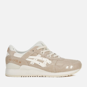 Asics Lifestyle Women's Gel-Lyte III Leather Trainers - Cream/Cream