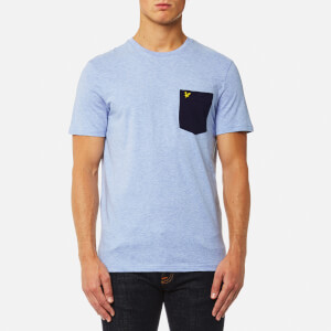 Lyle & Scott Men's Contrast Pocket T-Shirt - Blue Marl