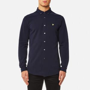 Lyle & Scott Men's Jersey Pique Shirt - Navy