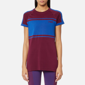 LNDR Women's Varsity Seamless Retro Tech Short Sleeve T-Shirt - Burgundy