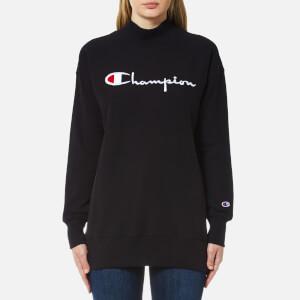 Champion Women's Polo Neck Sweatshirt - Black
