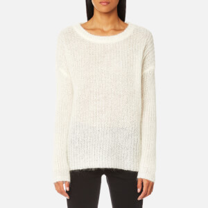 Gestuz Women's Hally Oversized Pullover Jumper - Cloud Dancer