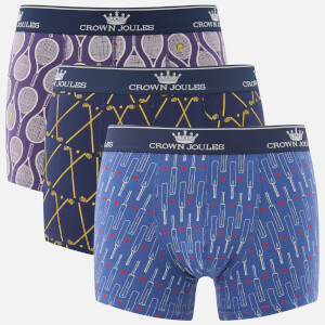 Joules Men's 3 Pack Novelty Printed Boxer Shorts - Multi