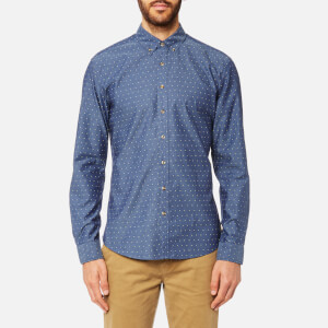 Joules Men's Long Sleeve Slim Fit Shirt - Indigo Spot
