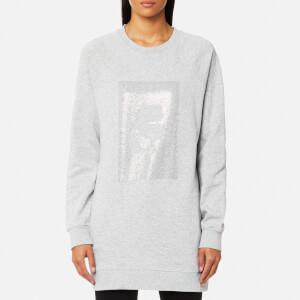 Karl Lagerfeld Women's Karl Rhinestones Sweatshirt - Grey