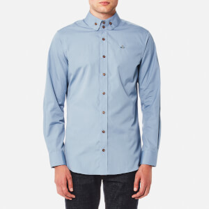 Vivienne Westwood MAN Men's Firm Poplin Two Button Krall Shirt - Blue