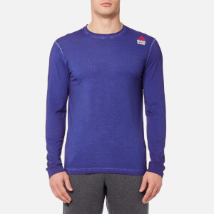 Reebok Men's CrossFit Long Sleeve T-Shirt - Deep Cobalt Blue