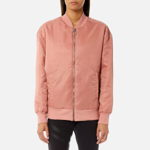 Reebok Women's Linear Bomber Jacket - Sandy Rose