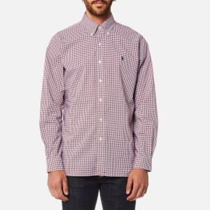 Polo Ralph Lauren Men's Slim Fit Poplin Shirt - Red Check