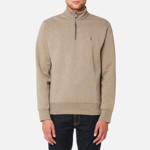 Polo Ralph Lauren Men's Half Zip Double Knitted Sweatshirt - Fall Sand Heather