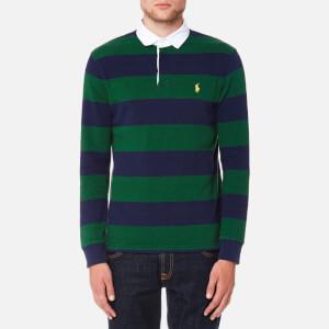 Polo Ralph Lauren Men's Long Sleeve Rugby Shirt - Green/Navy