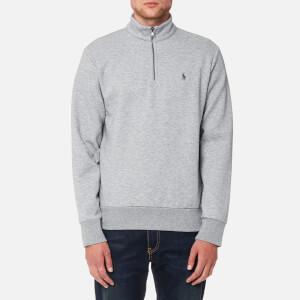 Polo Ralph Lauren Men's Half Zip Double Knitted Sweatshirt - Andover Heather