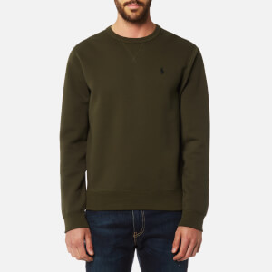 Polo Ralph Lauren Men's Double Knitted Crew Neck Sweatshirt - Company Olive