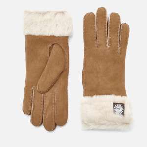 UGG Australia Women's Sheepskin Classic Turn Cuff Gloves - Chestnut