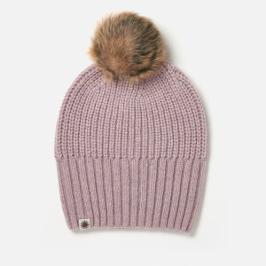 UGG Australia Women's Beanie with Fur Pom - Sterling Heather