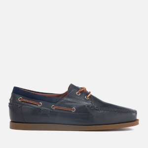 Polo Ralph Lauren Men's Dayne Smooth Oil Leather Boat Shoes - Newport Navy