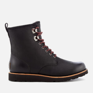 UGG Men's Hannen TL Waterproof Leather Lace Up Boots - Black
