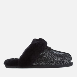 UGG Women's Scuffette II Glitzy Sheepskin Slippers - Black