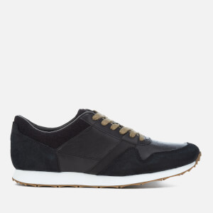 UGG Men's Trigo Leather Runner Trainers - Black