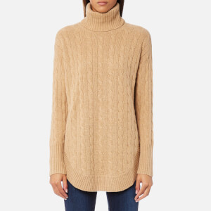 Polo Ralph Lauren Women's Turtle Neck Jumper - Camel