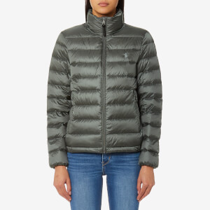 Polo Ralph Lauren Women's Lightweight Nylon Down Coat - Magnum Grey