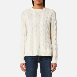 Polo Ralph Lauren Women's Boxy Roll Neck Jumper - Cream