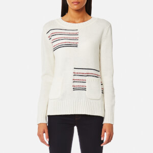 Barbour Women's Seaton Knitted Jumper - Cloud