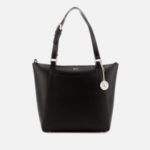 DKNY Women's Sutton Saddle Medium Tote Bag - Black