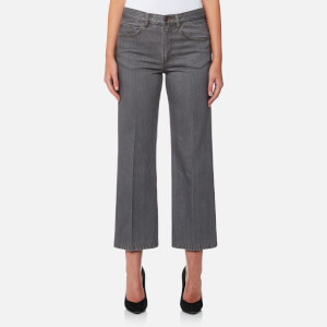 Marc Jacobs Women's Cropped Denim Pants - Grey