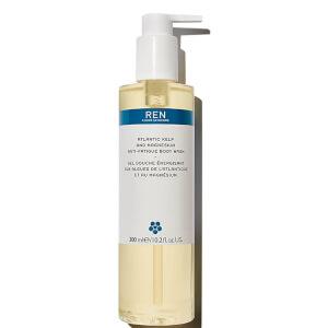 Gel de baño antifatiga Atlantic Kelp and Magnesium de REN 300 ml - Ocean Plastic