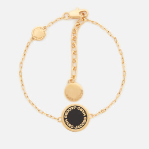 Marc Jacobs Women's Enamel Logo Disc Bracelet - Black/Oro