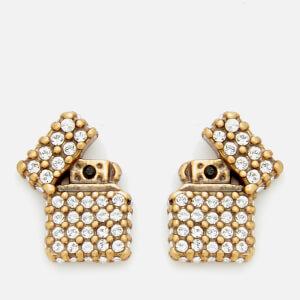 Marc Jacobs Women's Strass Lighter Studs - Antique Gold