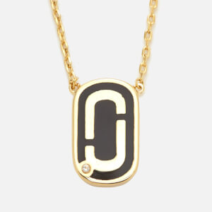 Marc Jacobs Women's Icon Enamel Pendant - Black/Gold