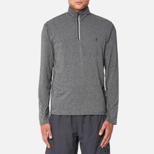 Polo Ralph Lauren Men's Performance Long Sleeve 1/2 Zip Top - Grey Heather
