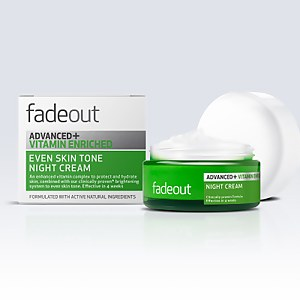 Crema de noche enriquecida ADVANCED + Vitamina Even Skin Tone de Fade Out