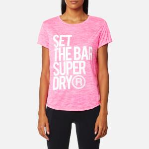 Superdry Sport Women's Fitspiration T-Shirt - Pop Pink
