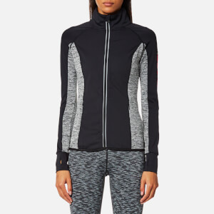 Superdry Sport Women's Essentials Track Top - Black/Speckle Charcoal