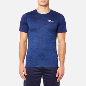 Superdry Sport Men's Core Train Spacedye T-Shirt - Navy Marl