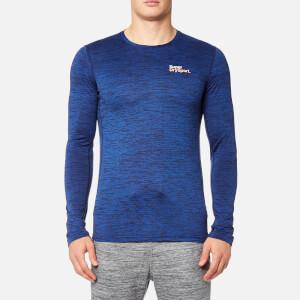 Superdry Sport Men's Core Train Spacedye Long Sleeve T-Shirt - Navy Marl
