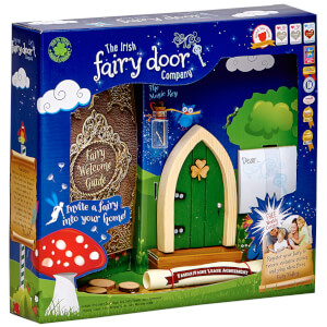 The Irish Fairy Door Company Arched Fairy Door - Green (Slim)