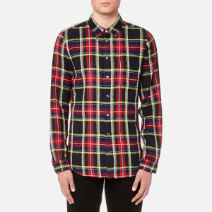 PS by Paul Smith Men's Checked Long Sleeve Shirt - Navy/Red