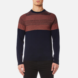 PS by Paul Smith Men's Contrast Shoulder Knitted Jumper - Navy