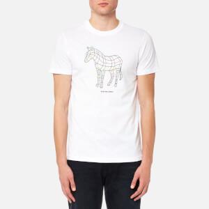 PS by Paul Smith Men's Large Zebra Logo T-Shirt - White