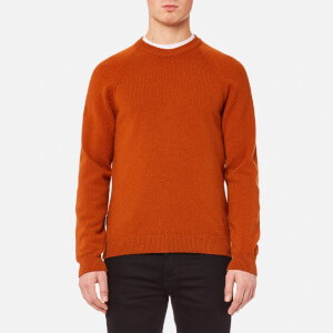PS by Paul Smith Men's Heavy Merino Plain Knitted Jumper - Brick