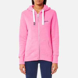 Superdry Women's Orange Label Primary Zip Hoody - Blizzard Pink Snowy